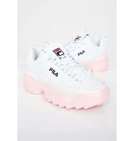 Fila Blush Disruptor II Premium Fade Sneakers