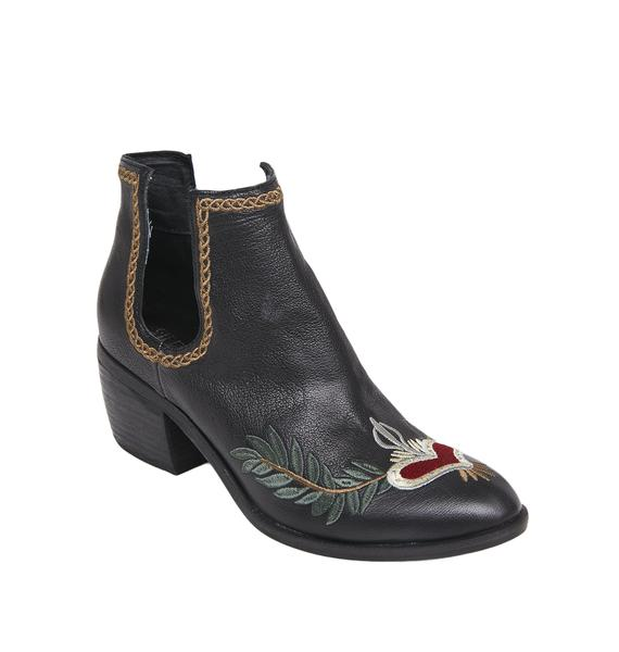 Silent D Oliver Embroidered Cut-Out Bootie