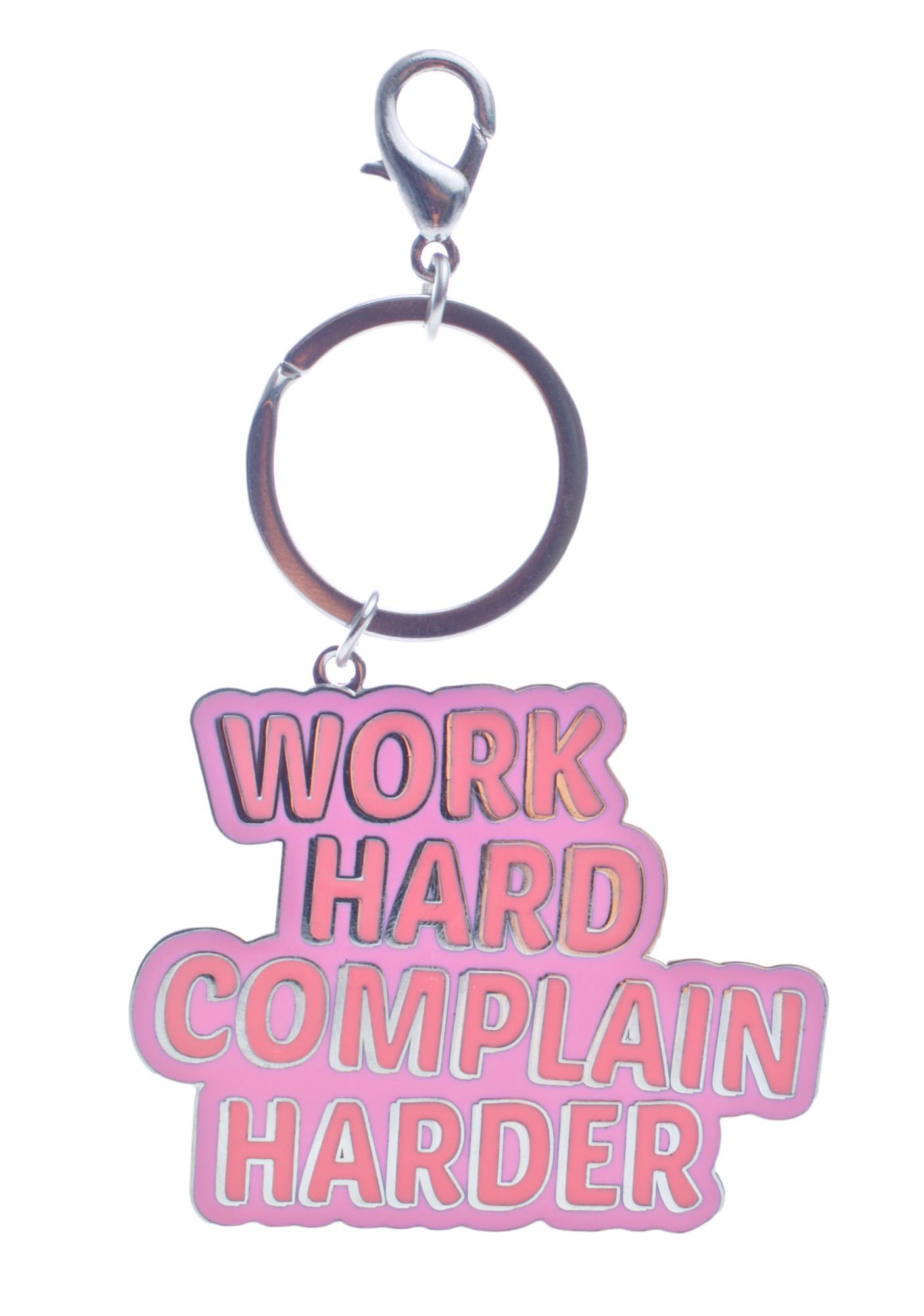 Local Heroes Work Hard Keychain