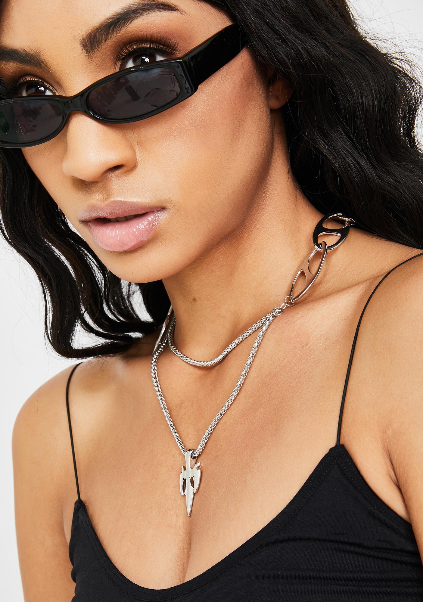 Dreadful Daggers Chain Necklace