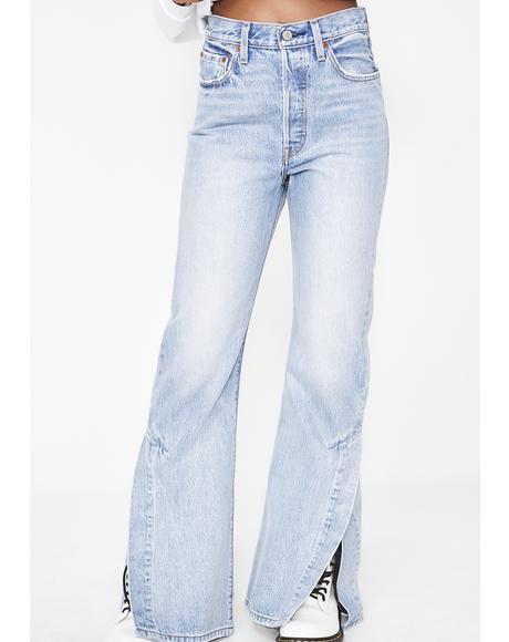 Ribcage Split Flare Jeans