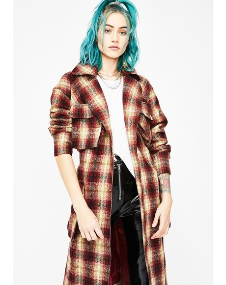 Anarchy Rules Plaid Coat