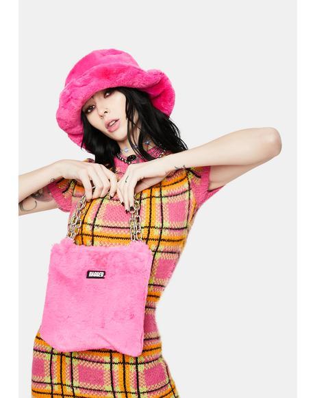 Pink Temper Faux Fur Grab Bag