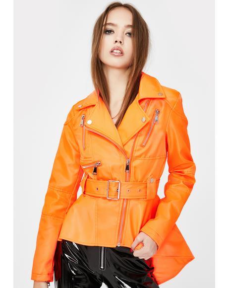 Jamelia Peplum Moto Jacket