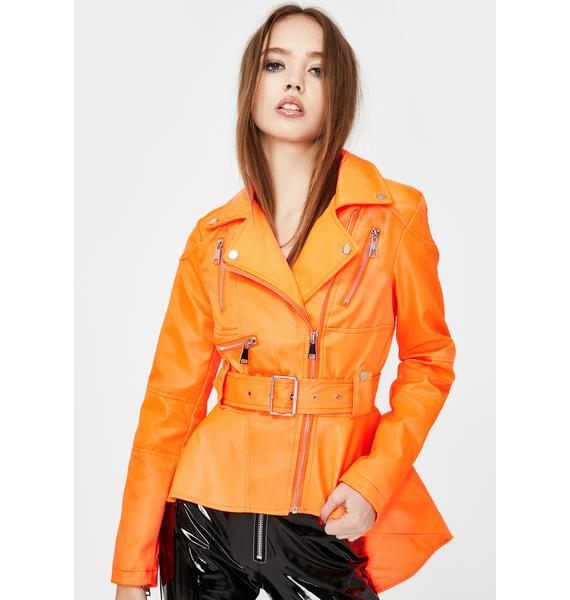 AZALEA WANG Jamelia Peplum Moto Jacket