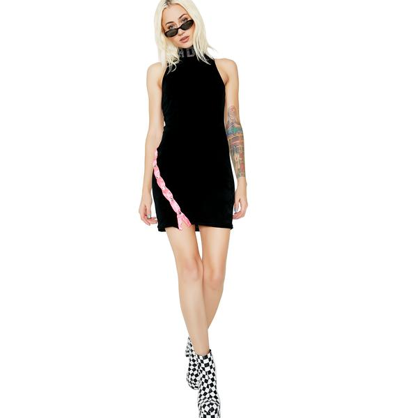 Jaded London Jaded Velour Mini Dress