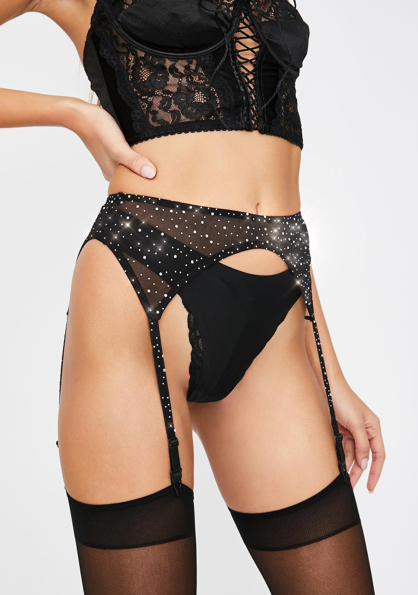 Love Songs Rhinestone Garter Belt