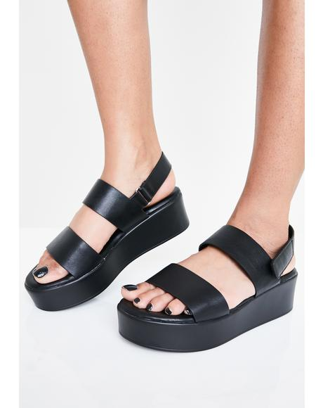 Coffee Break Platform Sandals