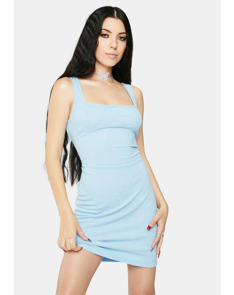 Light Blue Mini Tank Dress