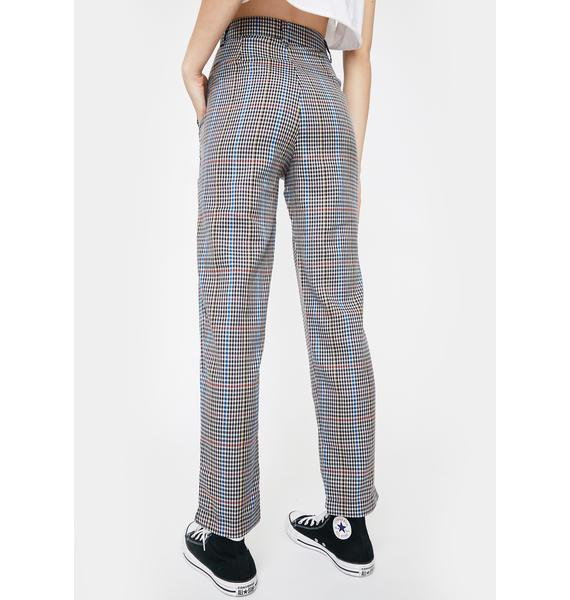 Daisy Street Check Cigarette Trousers