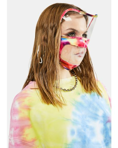 Stop The Spread Tie Dye Face Shield