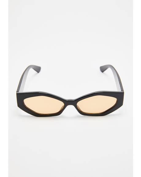 Geo Slay Hexagon Sunglasses
