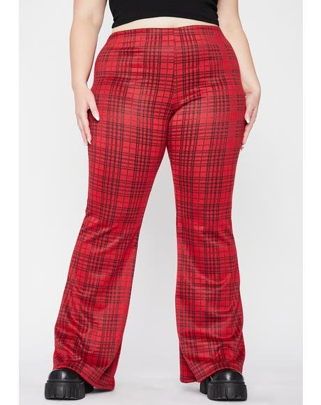 C'mon Give Me A Reason Plaid Flares