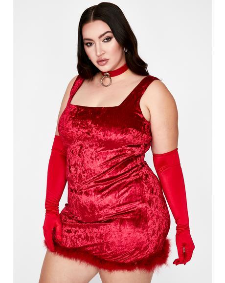 Devilish I Still Look Pretty Velvet Dress