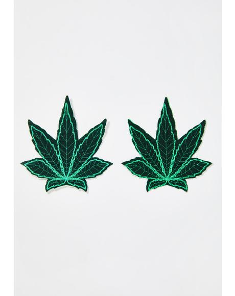 Ganja Green Leaf Pasties