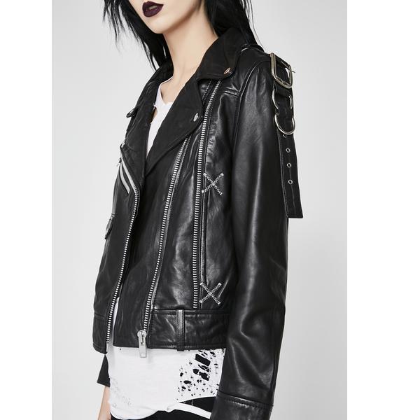 Disturbia Deadbeat Leather Jacket