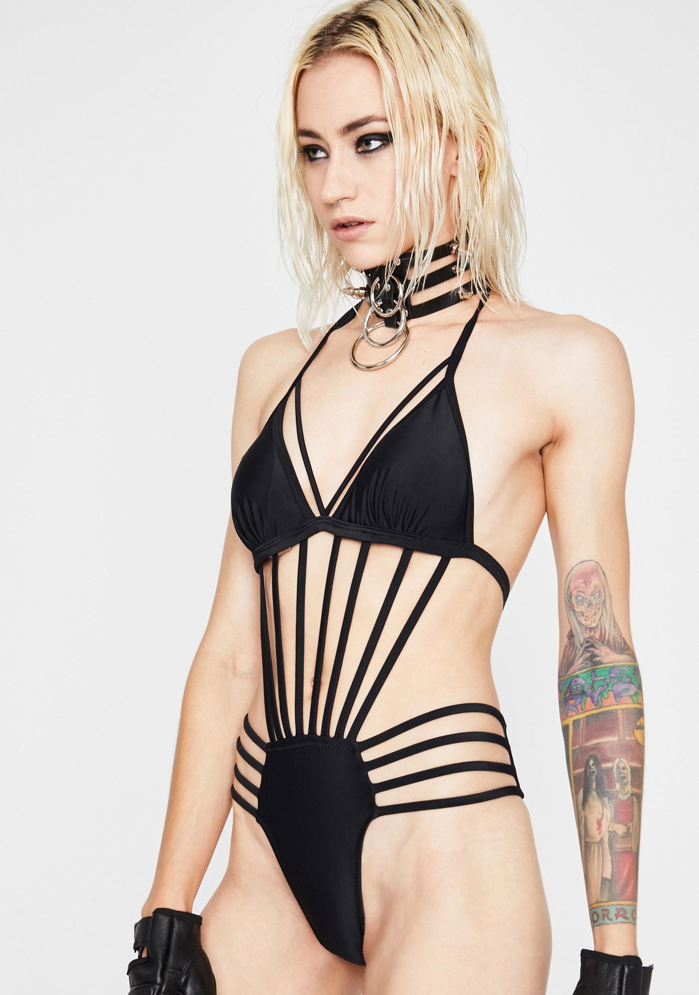 Eat Ya Heart Out Caged Bodysuit