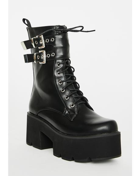 Grenade Platform Boots