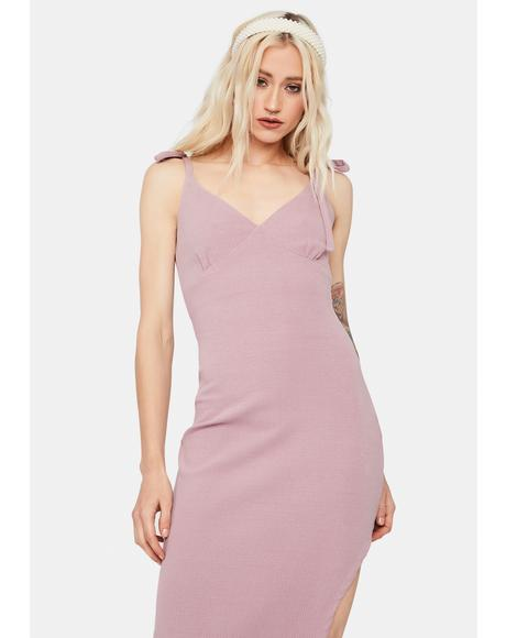 Call Me Chic Tie Strap Midi Dress