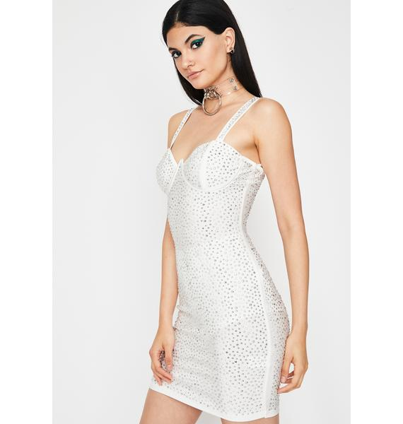 Frosty Fab Flare Rhinestone Dress