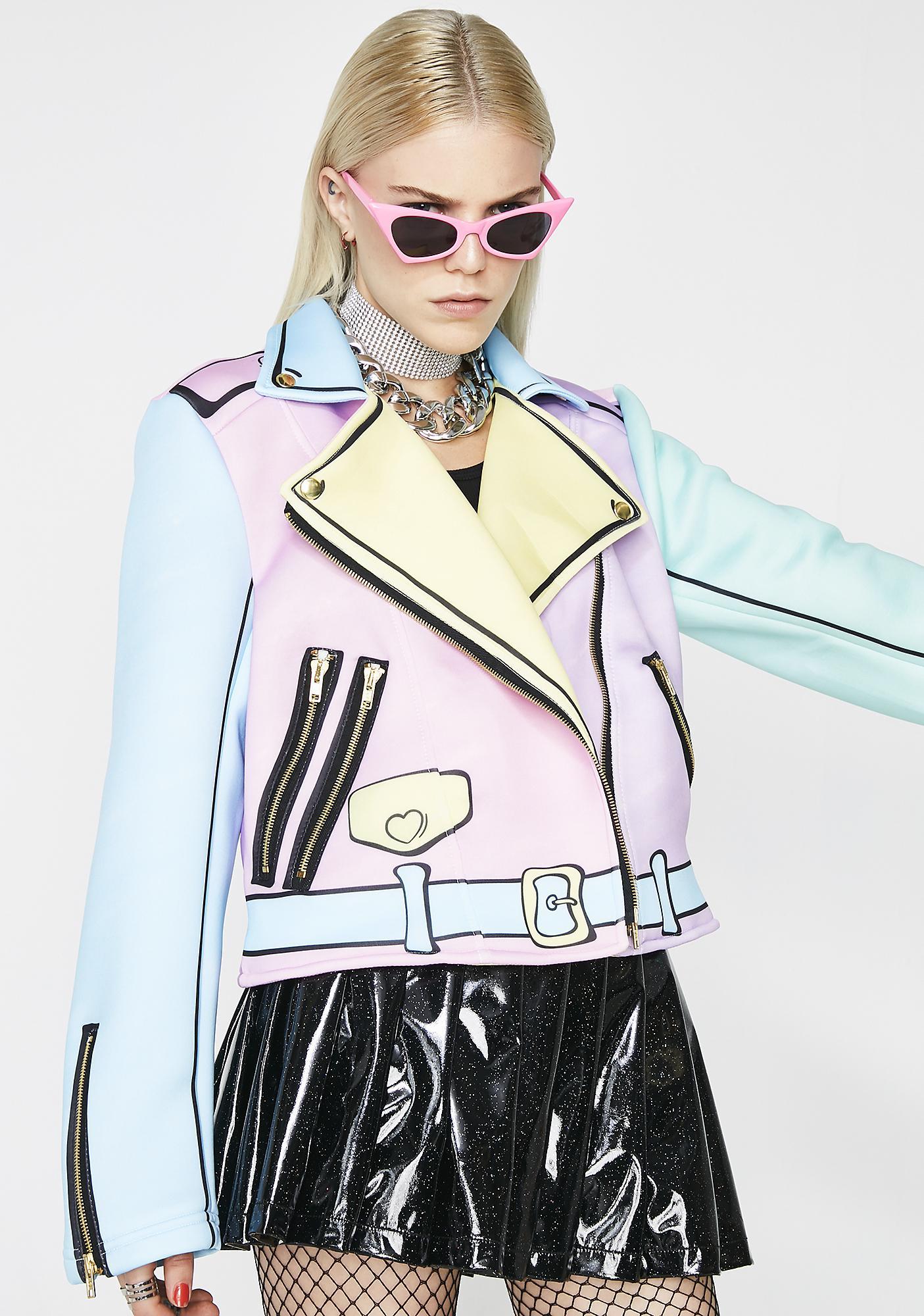 Sugarpills Pastel Realness Moto Jacket