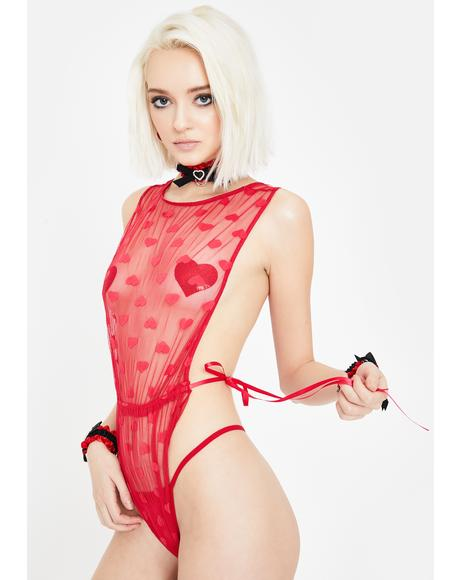 Heartbreak Hotel Mesh Teddy