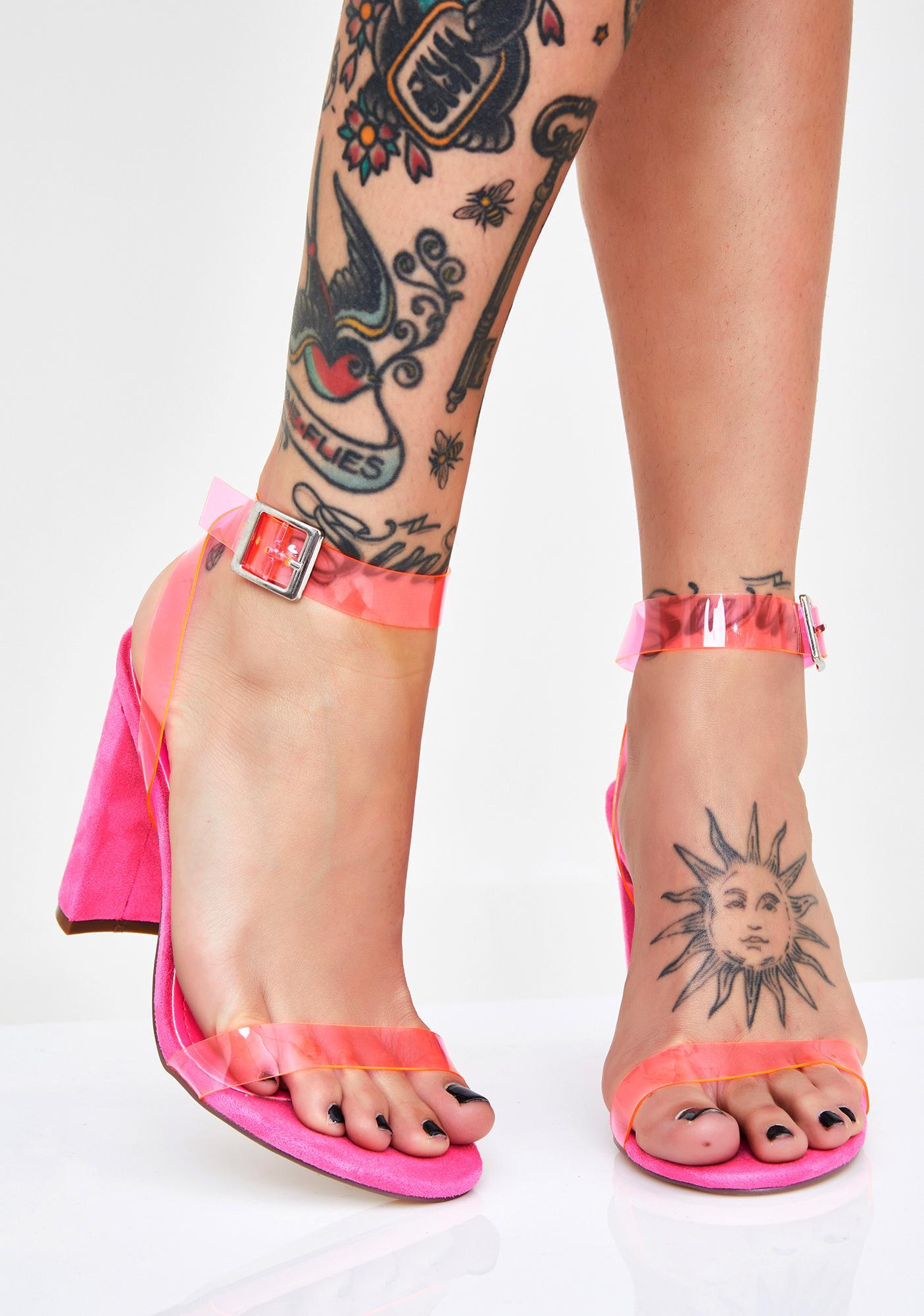 Too Shady PVC Heels