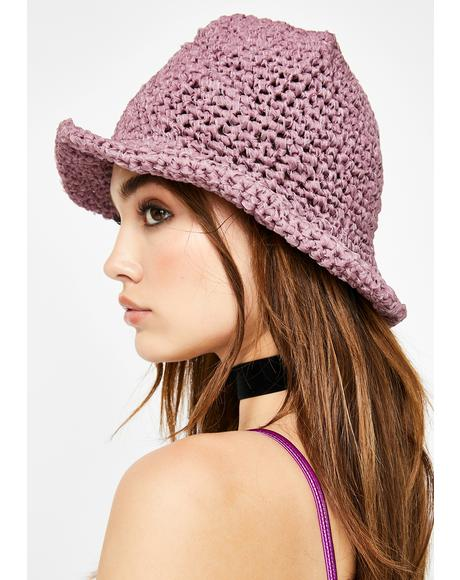 Hazy Broad Horizons Crochet Bucket Hat