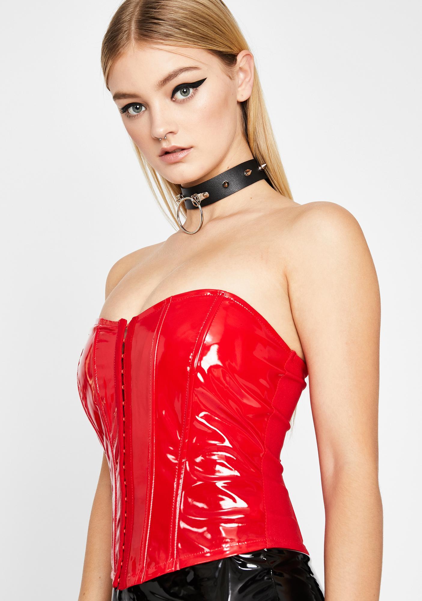 Mistress Cherry Patent Corset