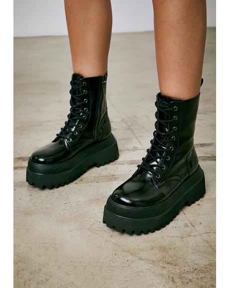 Void Quantum Leap Platform Combat Boots