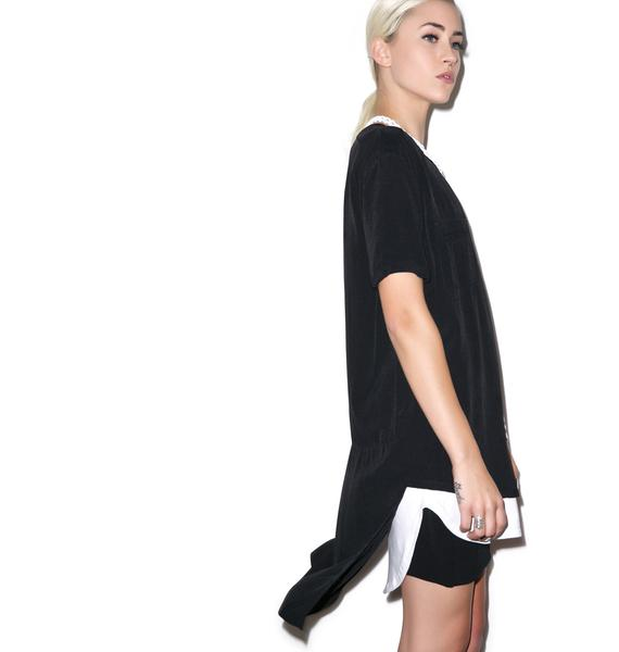 Evil Twin To The End Tail Back Woven Tee