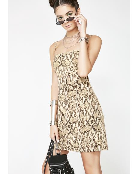 Snakebite Slip Dress