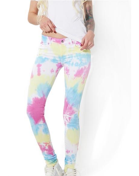Tie Dye Twill Pants