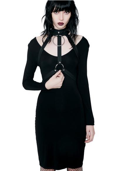 Jett Black She's Hot Dress