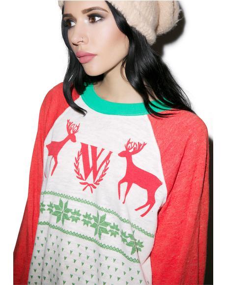 Pastel Snow Fox Kim Sweater
