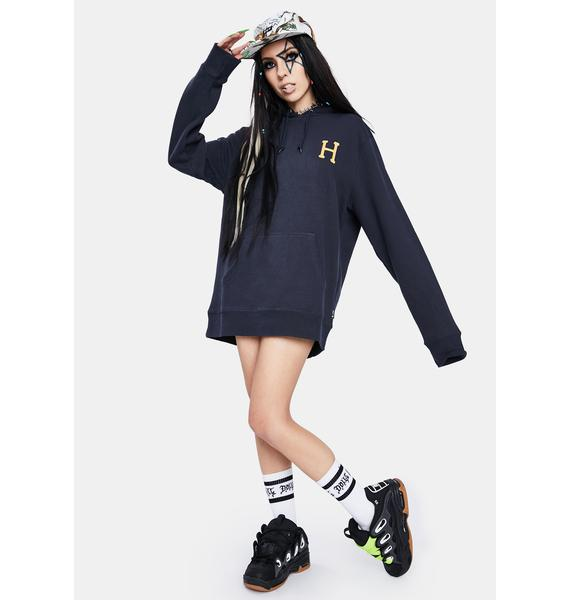 HUF French Navy Planta Pullover Hoodie