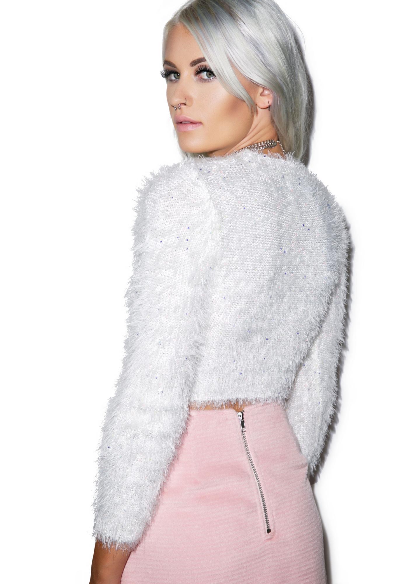 Mink Pink Freckles Fuzzy Jumper