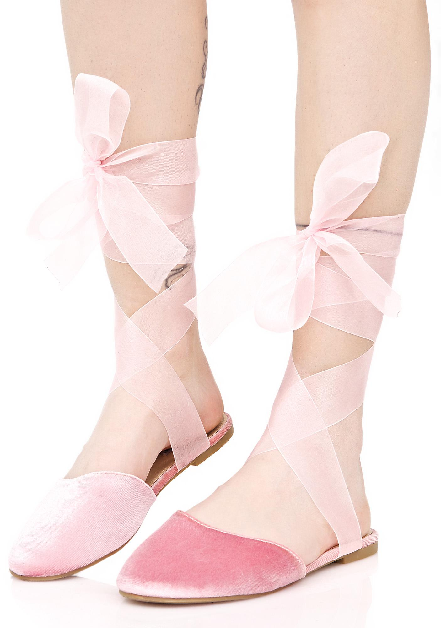 Romantic Celia Wrapped Flats