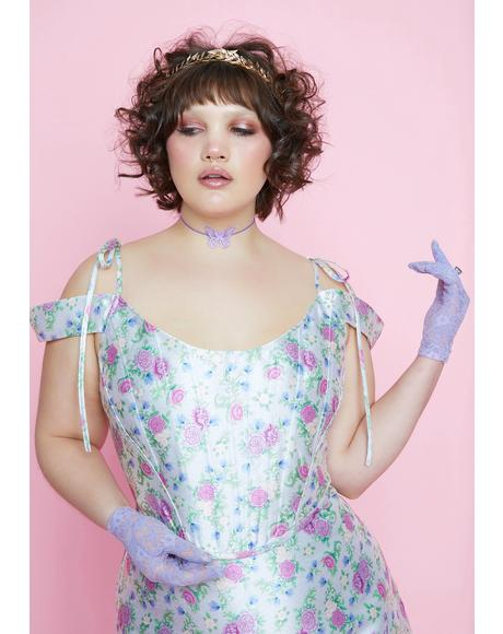 Blooming Pretty Polaroid Fever Corset Top