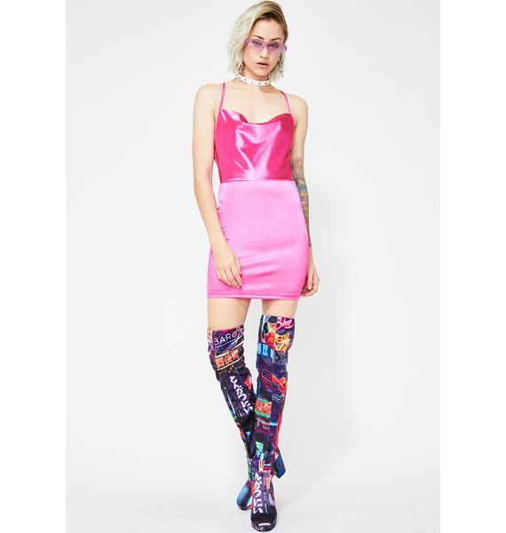 Candy Bad Idea Satin Dress