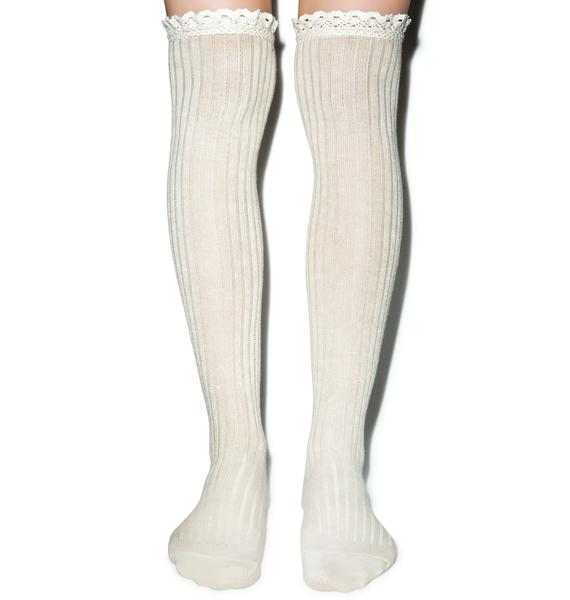 All About That Lace Knee High Socks