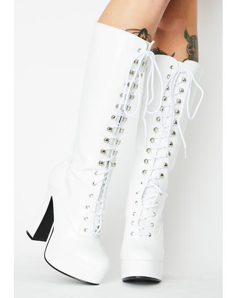 Frosted Hundreds Only Exotica Platform Boots