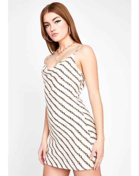 Body In Chains Mini Dress