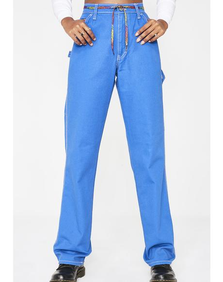 High Rise Relaxed Fit Carpenter Pants