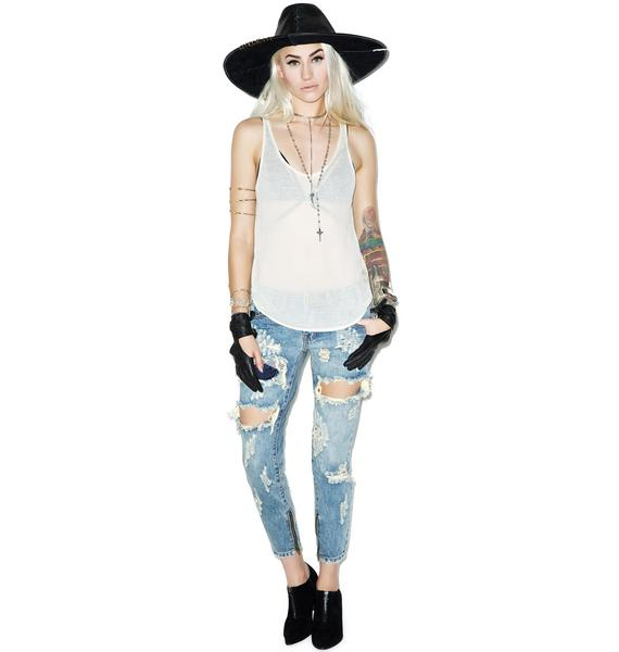 Wildfox Couture Essentials Ribbed Hiker Tank