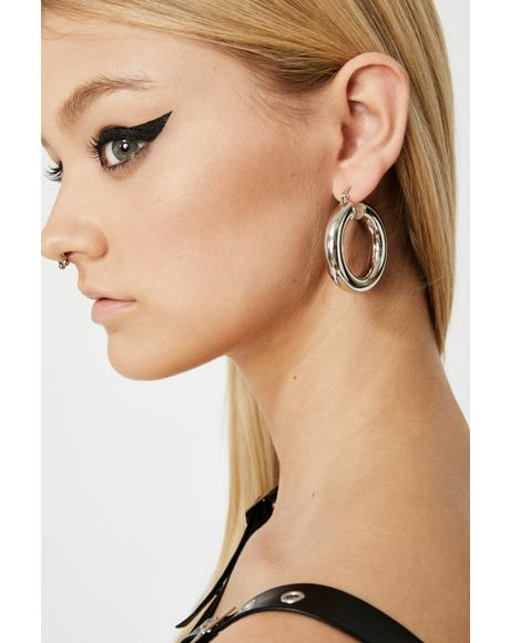 Elite Eclipse Hoop Earrings