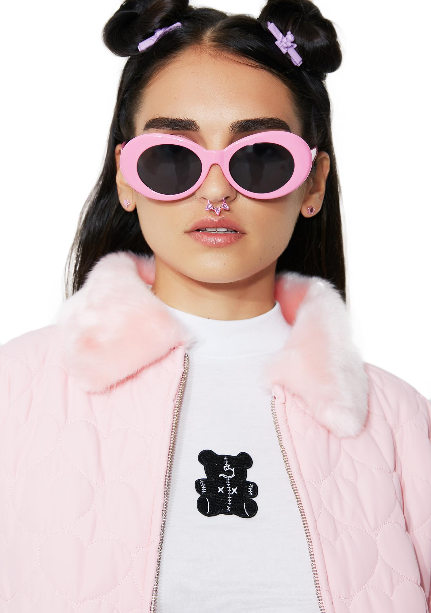 Petals and Peacocks Bubblegum Nevermind Sunglasses
