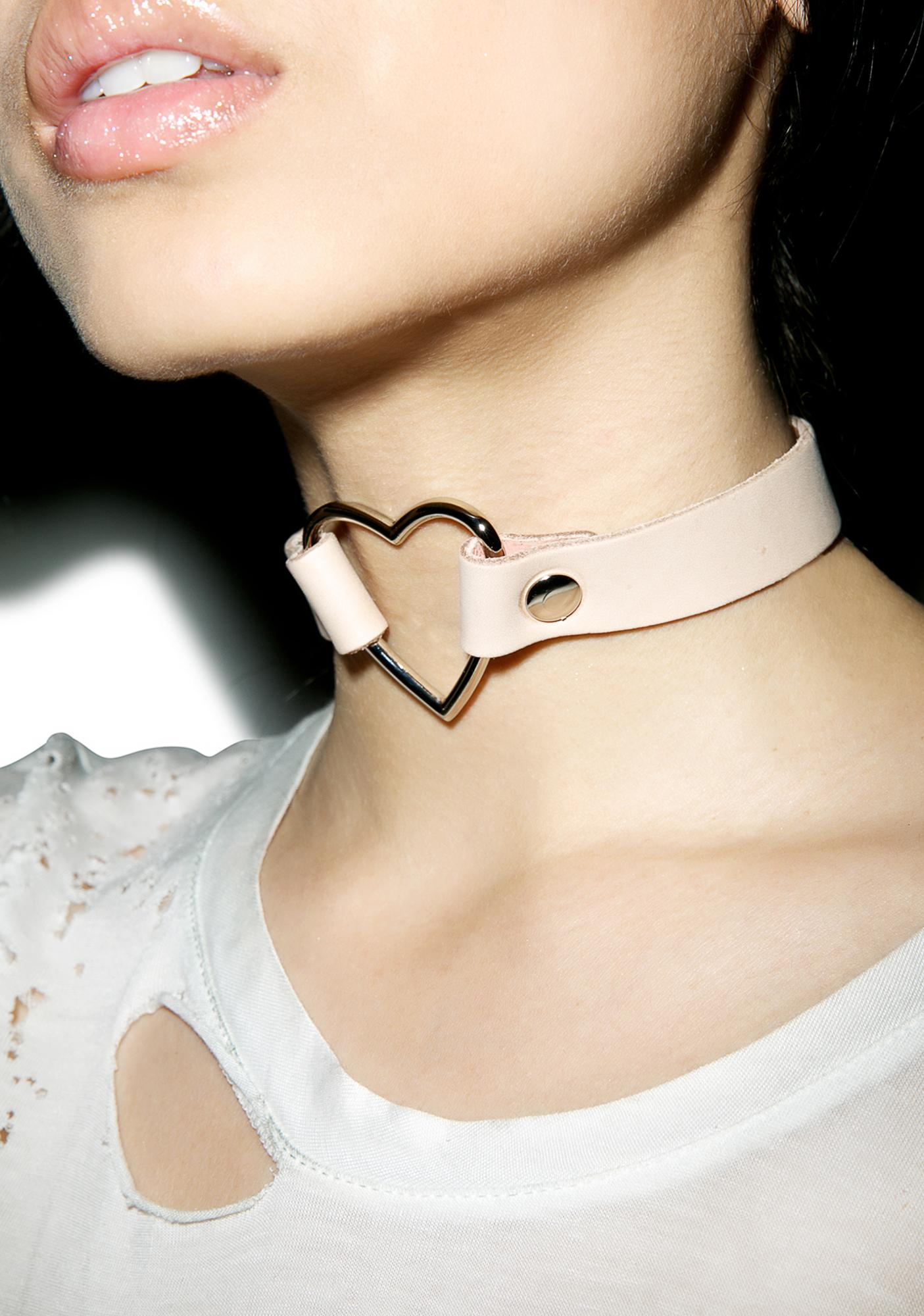 Hermosa Heart O-Ring Choker