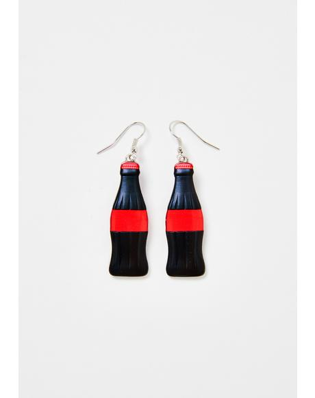 Sugar Rush Coke Bottle Earrings