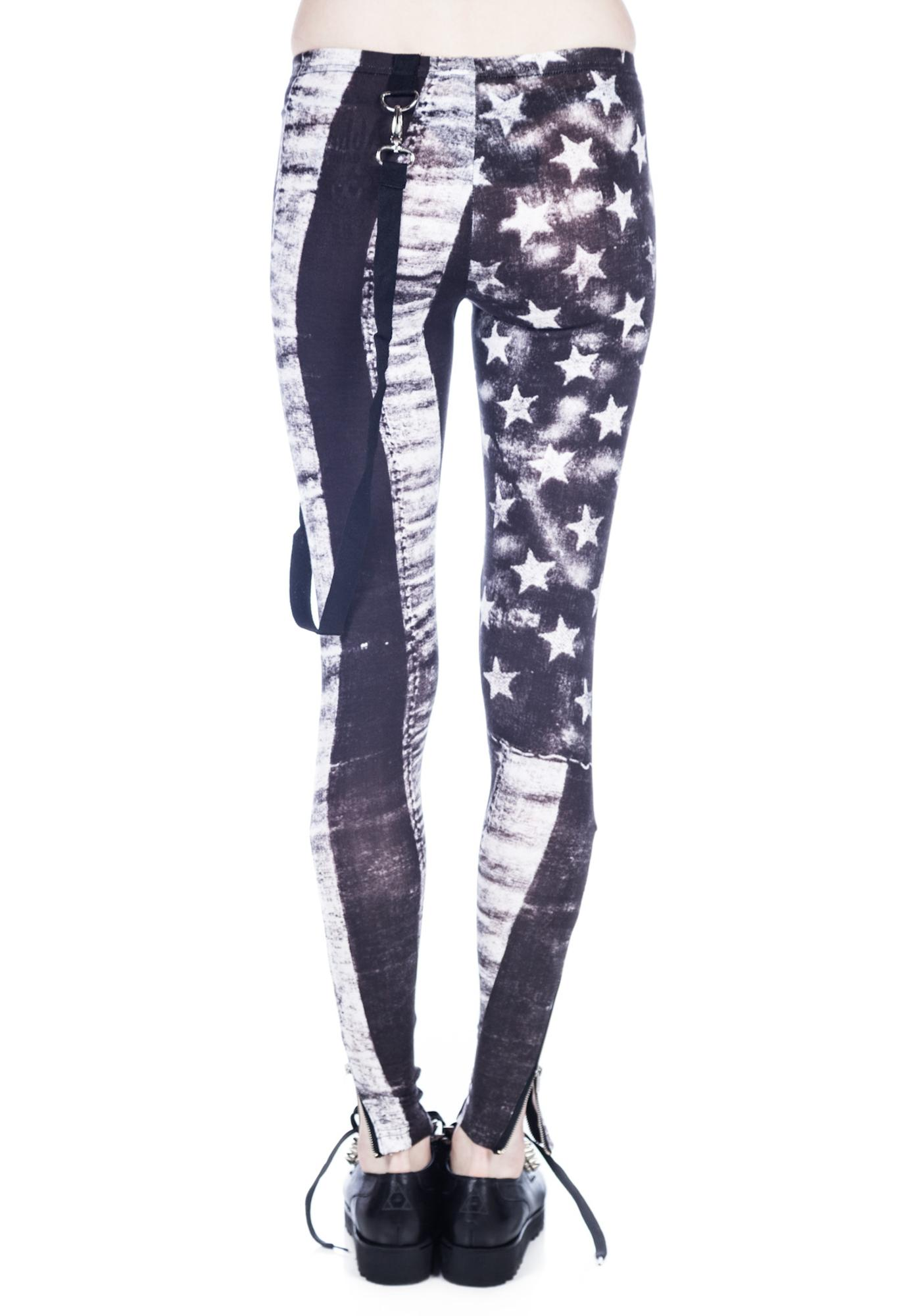 White Flag Leggings